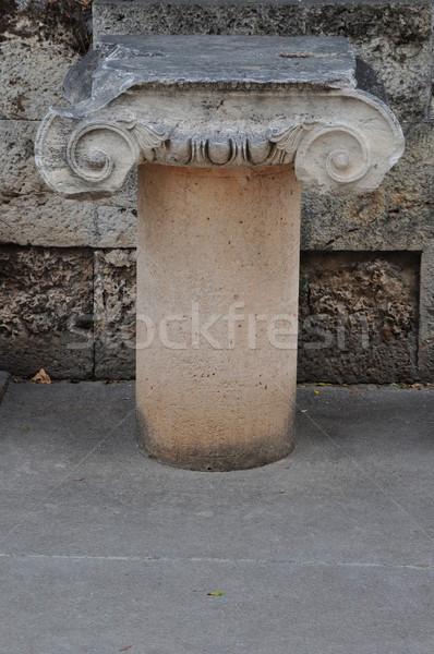 marble ionic column Stock photo © sirylok