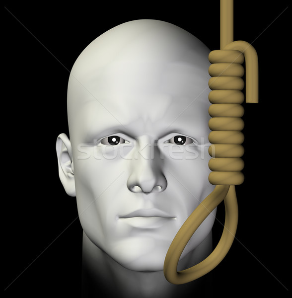 suicidal man and hanging noose 3d illustration Stock photo © sirylok