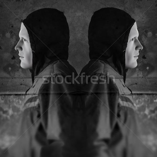 twin hooded figures Stock photo © sirylok