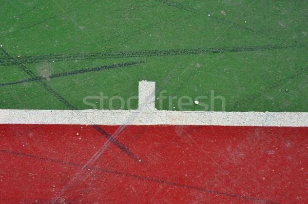 Boisko do koszykówki linie malowany konkretnych minimalny Zdjęcia stock © sirylok