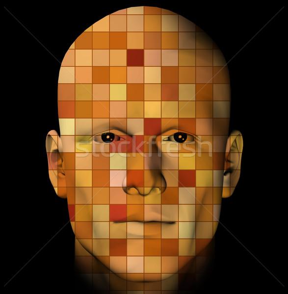 Foto stock: Homem · retrato · colorido · masculino · padrão
