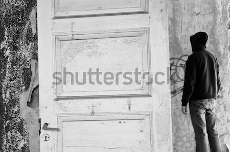 Rysunku opuszczony domu pustym pokoju wyblakły Zdjęcia stock © sirylok