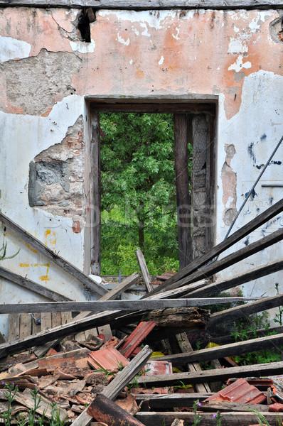 collapsed roof abandoned house Stock photo © sirylok