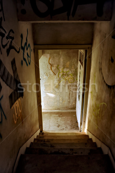 abandoned house staircase Stock photo © sirylok