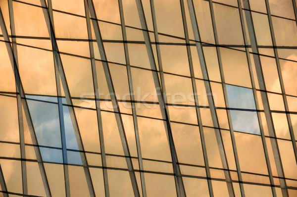 glass panel facade windows background Stock photo © sirylok