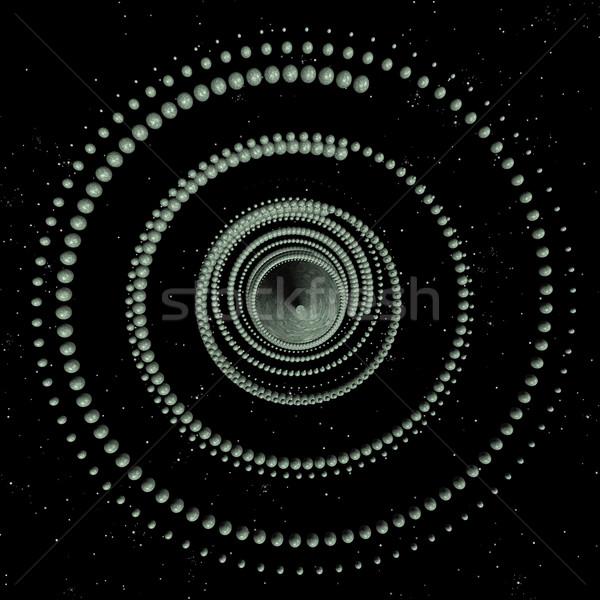 Przestrzeni spirali ilustracja komputera wygenerowany futurystyczny Zdjęcia stock © sirylok