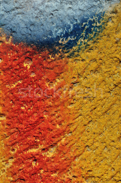 paint smudged textured wall Stock photo © sirylok