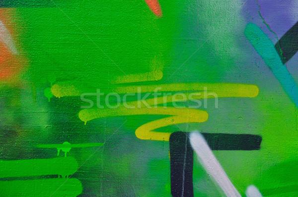 Absztrakt formák festék foltos fal mázgás Stock fotó © sirylok
