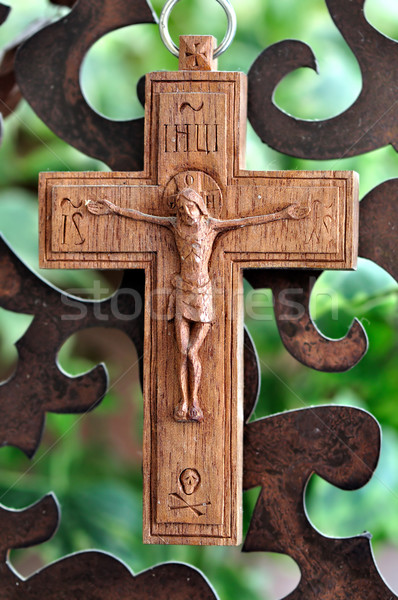 wooden crucifix Stock photo © sirylok