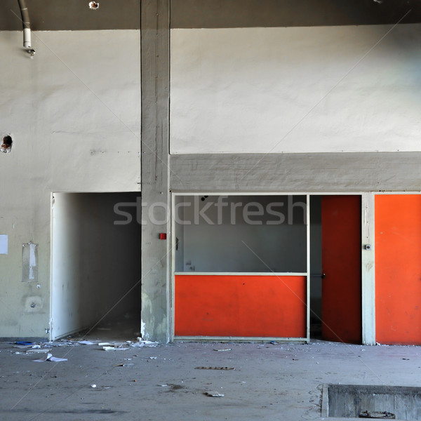 concrete wall and empty room in abandoned factory Stock photo © sirylok