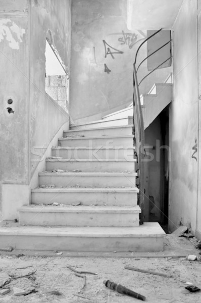old staircase and dirty floor Stock photo © sirylok