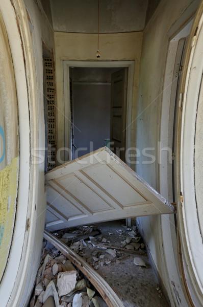unhinged door abandoned house corridor Stock photo © sirylok