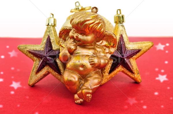 Angyal karácsony csillagok szezonális dekoráció szeretet Stock fotó © sirylok