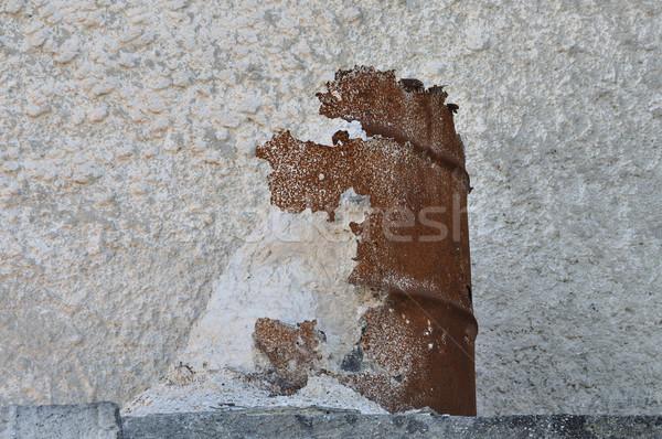 Márvány por por rozsdás hordó köteg Stock fotó © sirylok