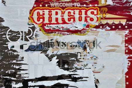 Szakadt plakátok absztrakt szakadt papír koszos textúra Stock fotó © sirylok