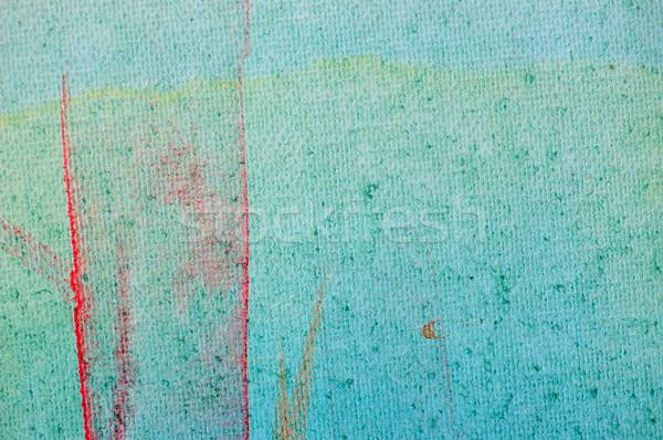 Mázgás festék színek vászon absztrakt festmény Stock fotó © sirylok