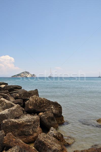 ビーチ ザキントス 夏 風景 ヨット ストックフォト © sirylok