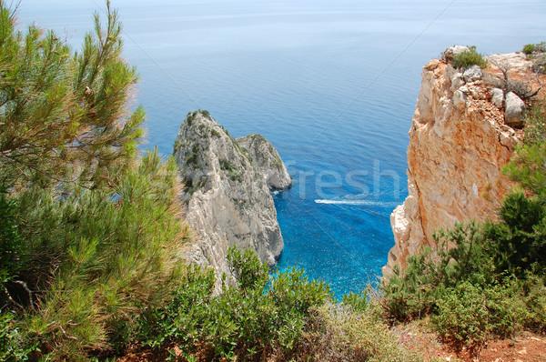 海 パノラマ 表示 山 島 ザキントス ストックフォト © sirylok