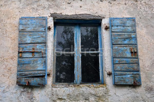 塗料 木製 青 壁 ストックフォト © sirylok