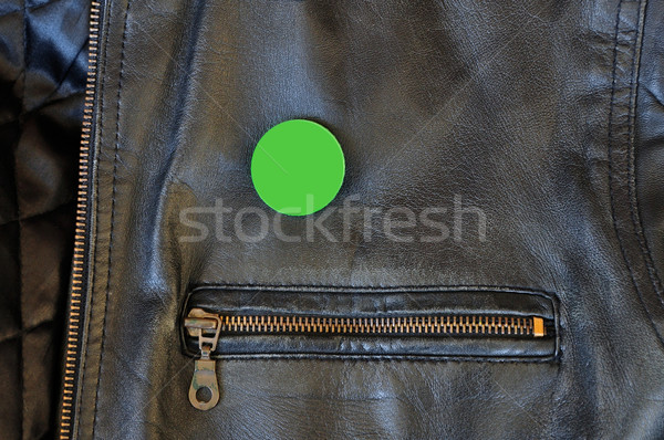 Noir broches badge zipper propre Photo stock © sirylok