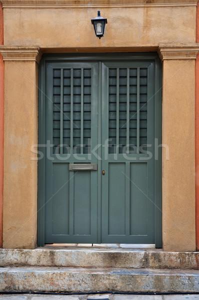 steps and iron gate Stock photo © sirylok