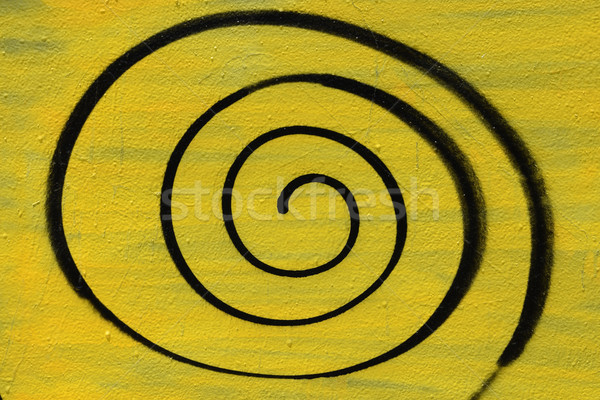Spray verniciato spirale muro abstract Foto d'archivio © sirylok