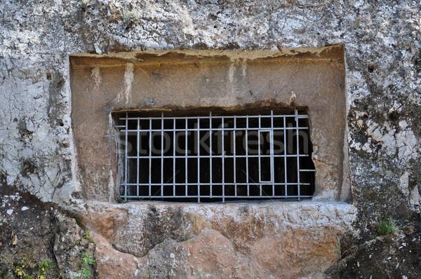 Grób starożytnych pogrzeb Hill Ateny Grecja Zdjęcia stock © sirylok