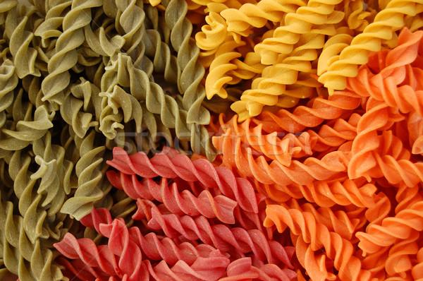 colored twirls pasta background Stock photo © sirylok