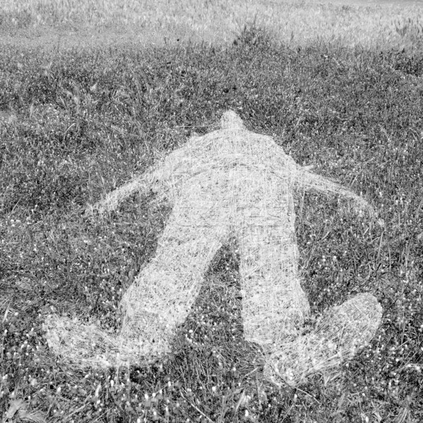human figure outline imprinted on grass Stock photo © sirylok