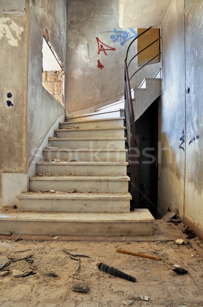 vintage staircase and dirty floor Stock photo © sirylok