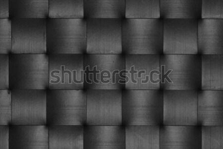 black leather weave pattern Stock photo © sirylok