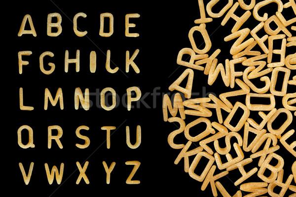 alphabet soup pasta font Stock photo © sirylok