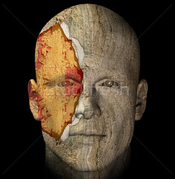 weathered statue head Stock photo © sirylok