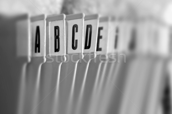 alphabetical filing tray organizer Stock photo © sirylok