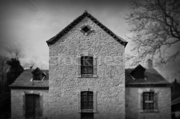 Gótico arquitectura abandonado casa renacimiento exterior de la casa Foto stock © sirylok
