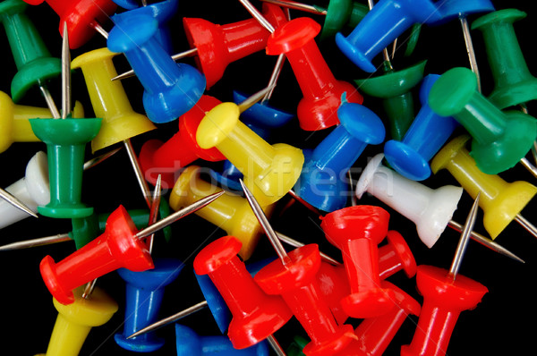 Stock photo: colored push pins