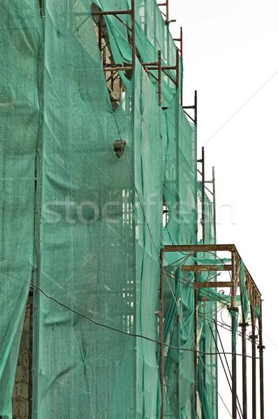 Elhagyatott palota rendbehoz szakadt textúra épület Stock fotó © sirylok