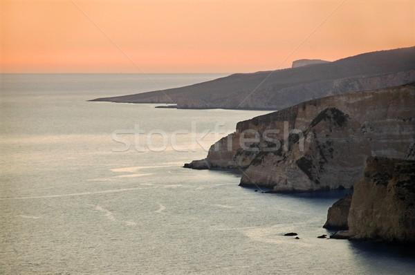 海 日没 島 ザキントス ギリシャ ストックフォト © sirylok