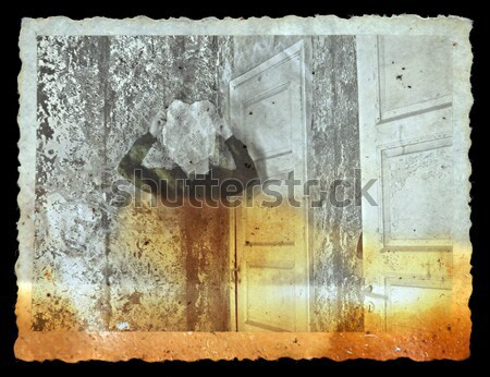 faded picture of ghostly figure in abandoned house Stock photo © sirylok