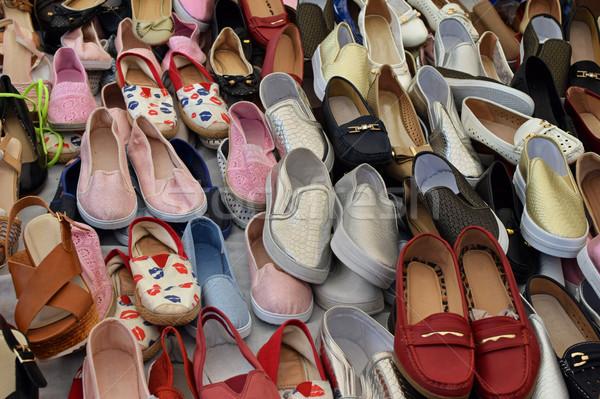 靴 販売 通り 市場 カジュアル 背景 ストックフォト © sirylok