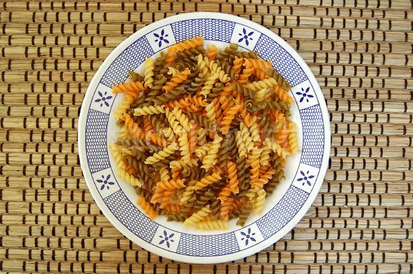 fusilli pasta background Stock photo © sirylok