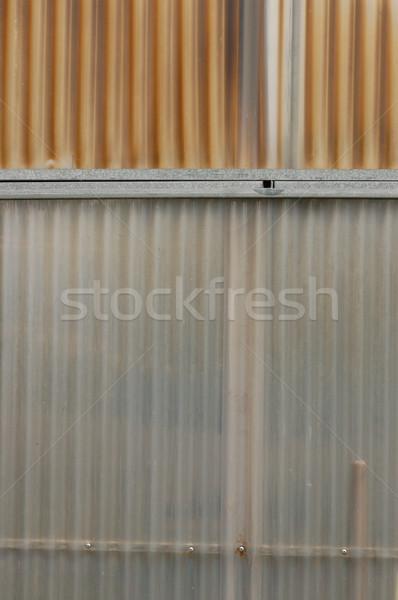 aluminum and corrugated plastic background Stock photo © sirylok