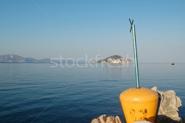 ザキントス 桟橋 ビーチ ギリシャ 空 水 ストックフォト © sirylok