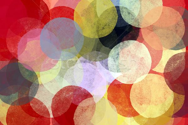 Abstrato círculos ilustração escove pintar textura Foto stock © sirylok
