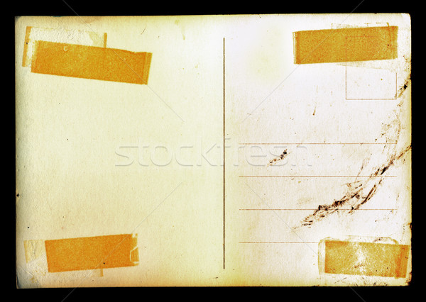 vintage blank postcard background with stains Stock photo © sirylok