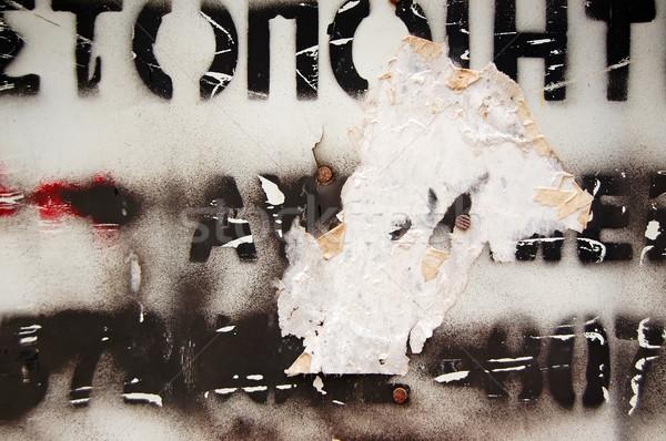 Type stencil verweerde oppervlak abstract textuur Stockfoto © sirylok