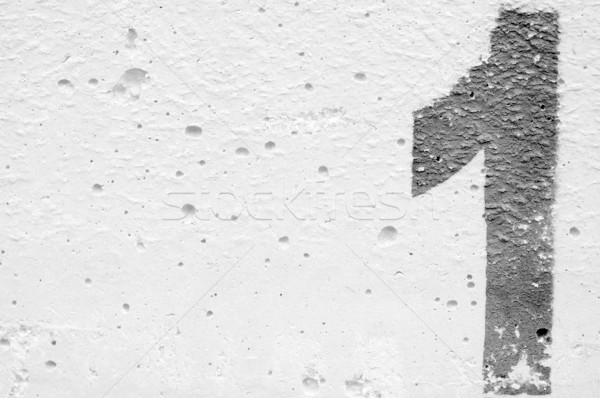Stencil ruw beton oppervlak zwart wit Stockfoto © sirylok