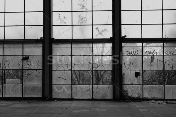 ガラス 壁 壊れた 窓 捨てられた ジム ストックフォト © sirylok