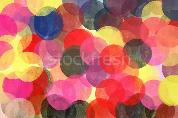 Círculos padrão ilustração escove pintar textura Foto stock © sirylok