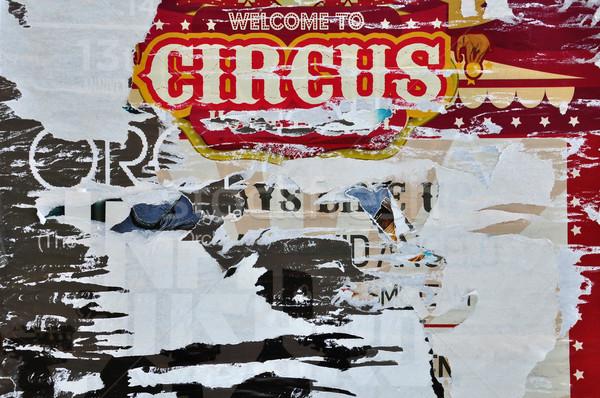 Gescheurd billboard posters abstract textuur Stockfoto © sirylok